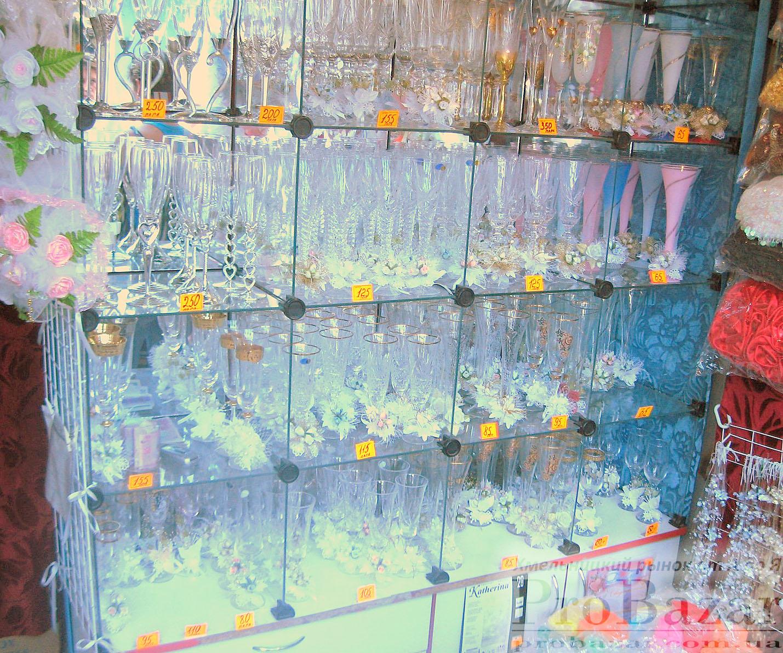 Хмельницкий рынок: бокалы для молодожёнов