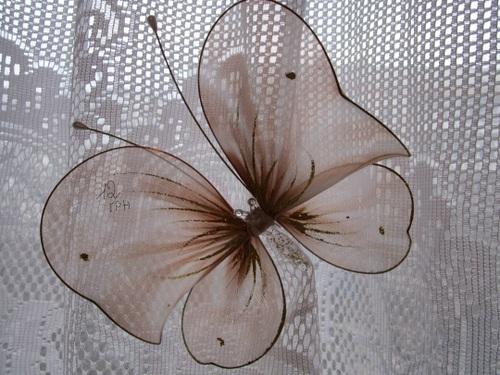 Как сделать бабочку на тюль